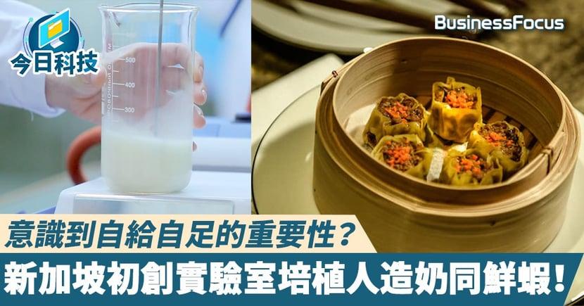 【食物科技】意識到自給自足的重要性?新加坡初創實驗室培植人造奶同鮮蝦!