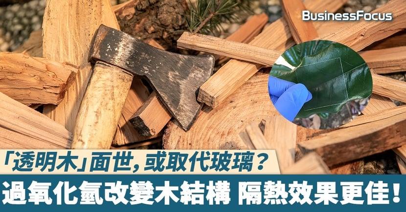 【透明木】 「透明木」面世,或取代玻璃? 過氧化氫改變木結構 隔熱效果更佳!