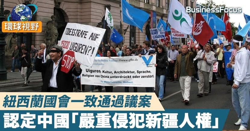 【新疆人權】紐西蘭國會全數通過動議 宣稱中國嚴重侵害維吾爾族人權