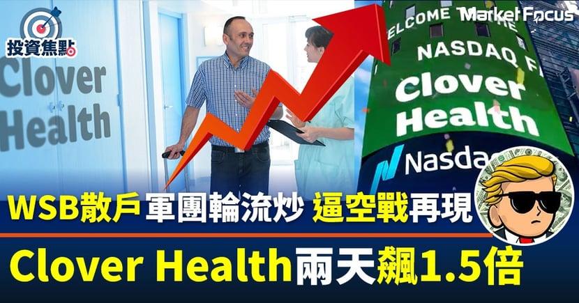 【網紅股熱炒】Reddit散戶大軍又殺到!「新歡」Clover Health兩天飆1.5倍
