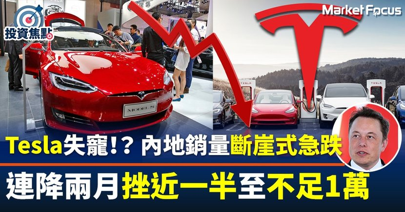 【Tesla馬斯克】中國銷量「斷崖式」降至不足1萬輛  跌幅擴大至近50%